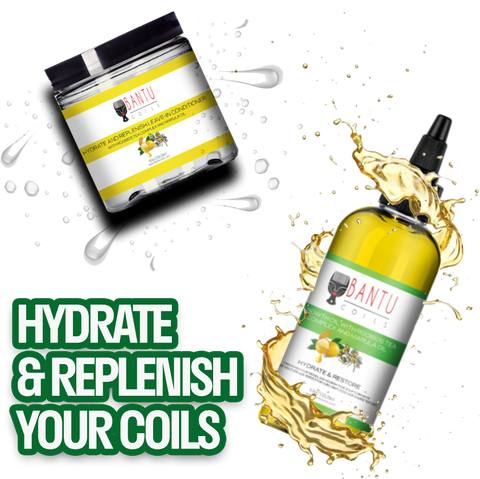 Bantu Coils Hydrate & Replenish Natural Hair Products for Growth
