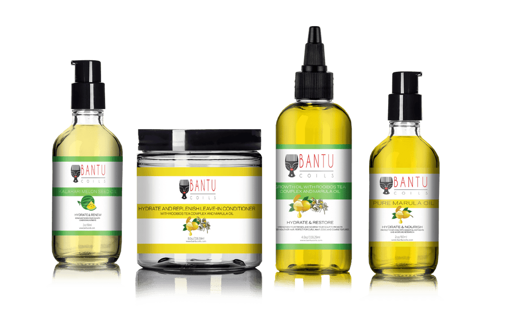 Hydrate and Restore Skin and Hair Kit infused with Rooibos Tea Complex and Marula Oil - Bantu Coils