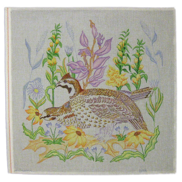 birds and flowers needlepoint