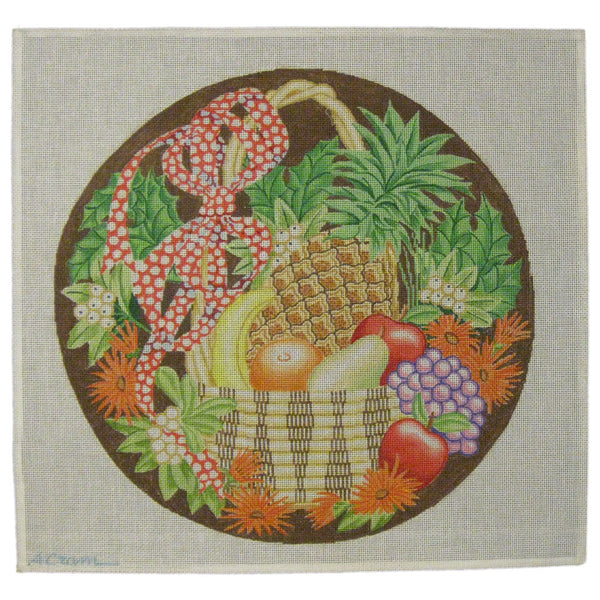 basket fruit needlepoint
