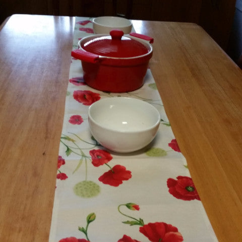 Wild Poppy Table Runner - - Gypsy Tableware Designs
