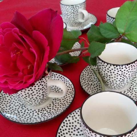 Julie Expresso Cup & Saucer - - Gypsy Tableware Designs