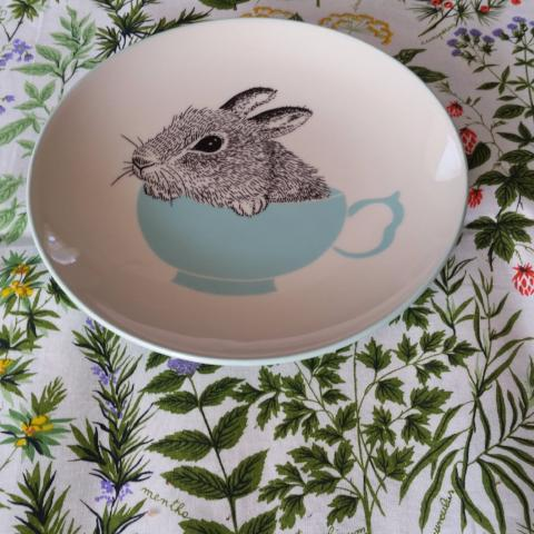 Bloomingville Rabbit Plate  - Ideal Easter Gift! Especially If You Do Not Want To Give Eggs! - Gypsy Tableware Designs