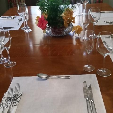 French White Linen Placemats.  Yes We Do Place-Mats Too... - Gypsy Tableware Designs