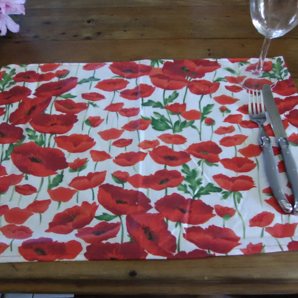 Poppy Field Placemats  Hey I am new!