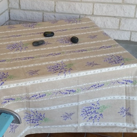 Lavender Stripe  Square - Last One!