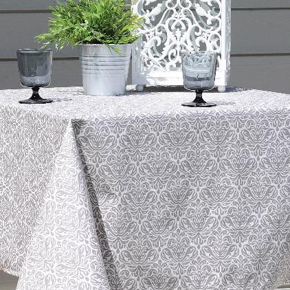 Silver Grey  Pattern  (14-18) Are You looking for an Extra large Tablecloth?!