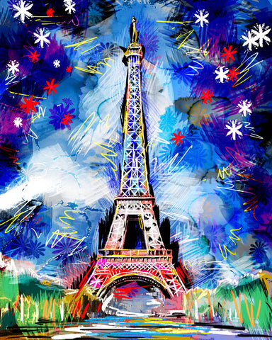Eiffel Tower Art, Paris Painting