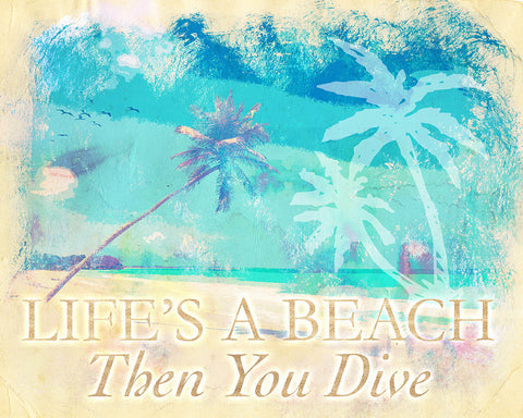 Beach Art, Beach Quote Painting, Beach Saying Art