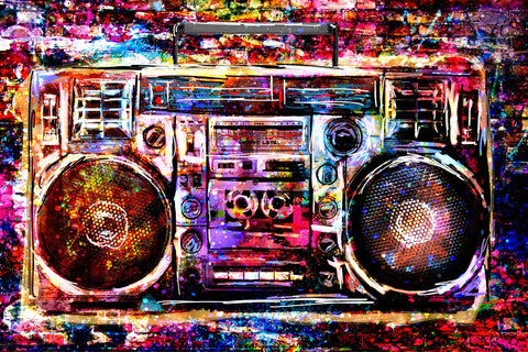 Boombox Art Print, Music art, Radio Artwork