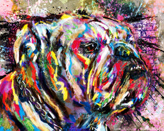 Bulldog Art, Dog Painting, Pet Art