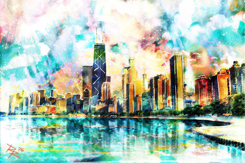 Chicago Art Print, Skyline Canvas