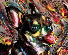 Chihuahua Art, Dog Painting, Pet Art