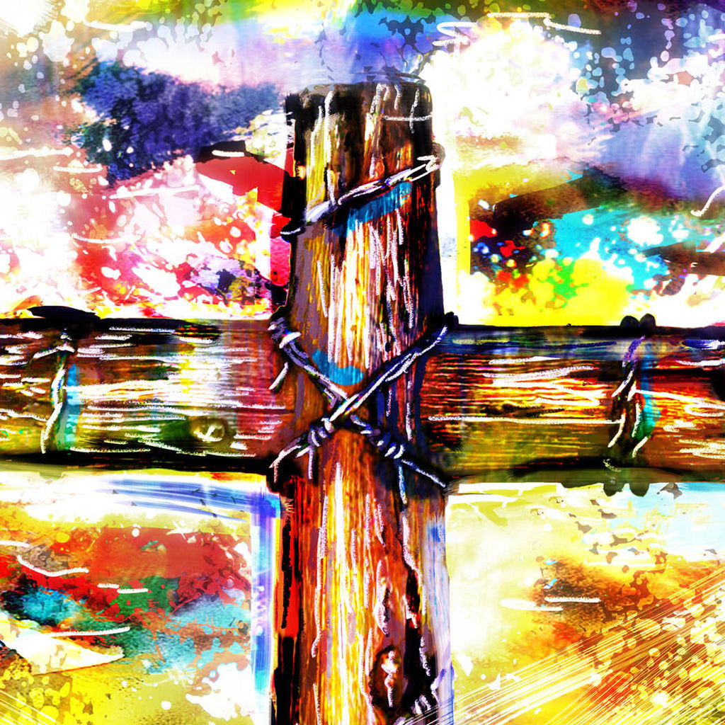 Christian Cross Art Cross Canvas Christian Painting