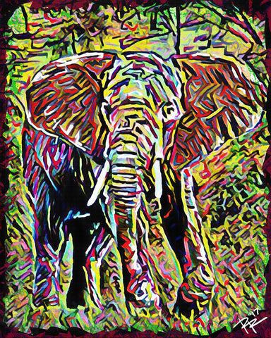 Elephant Art, Wildlife Painting