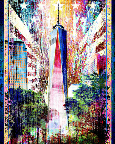Freedom Tower Art Print, New York City Canvas