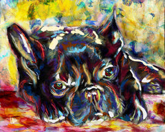 French Bulldog Art, Frenchie Canvas, Bulldog painting, Dog Painting, Pet Art