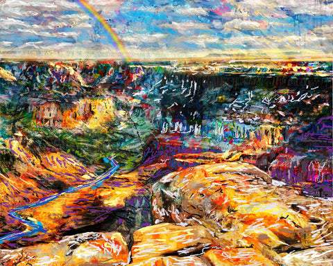 Grand Canyon, Nature Painting, Arizona Art