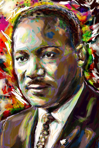 Martin Luther King Art Print, MLK Canvas