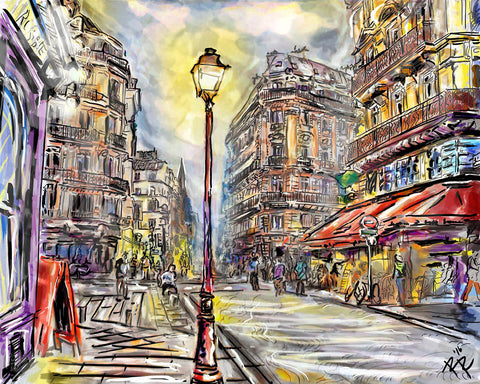 Paris Art, Cityscape Painting