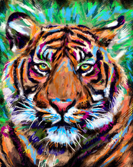 Tiger Art, Jungle Canvas, Wild Animal painting