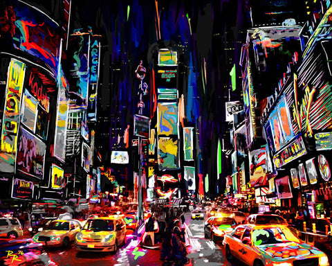 Times Square Art, New York Painting