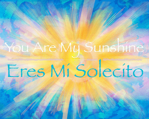 Sunshine Art, Song Quote Painting, Child Art Saying