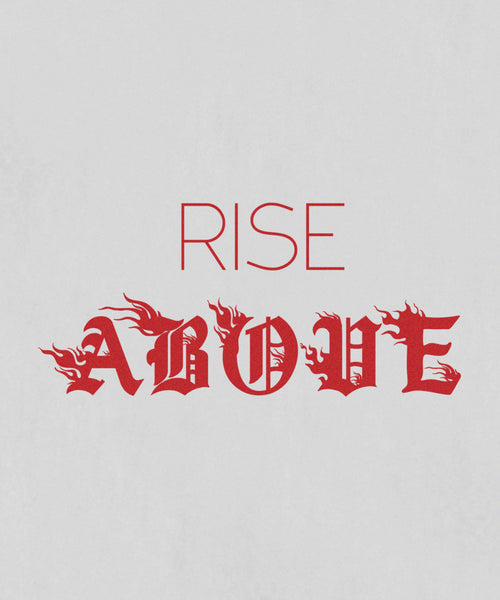 Rise Above Tee // White