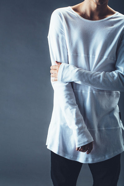 Paneled Long Sleeve // White