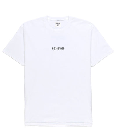 Perspectives Logo Tee // White
