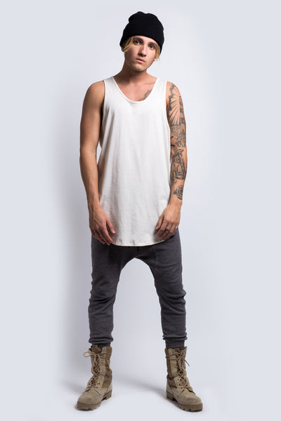 Under Scoop Tank // Beige