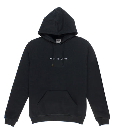 This is Chaos Hoodie // Black