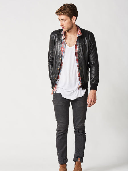 The Londoner Cardi Leather Jacket – Mens