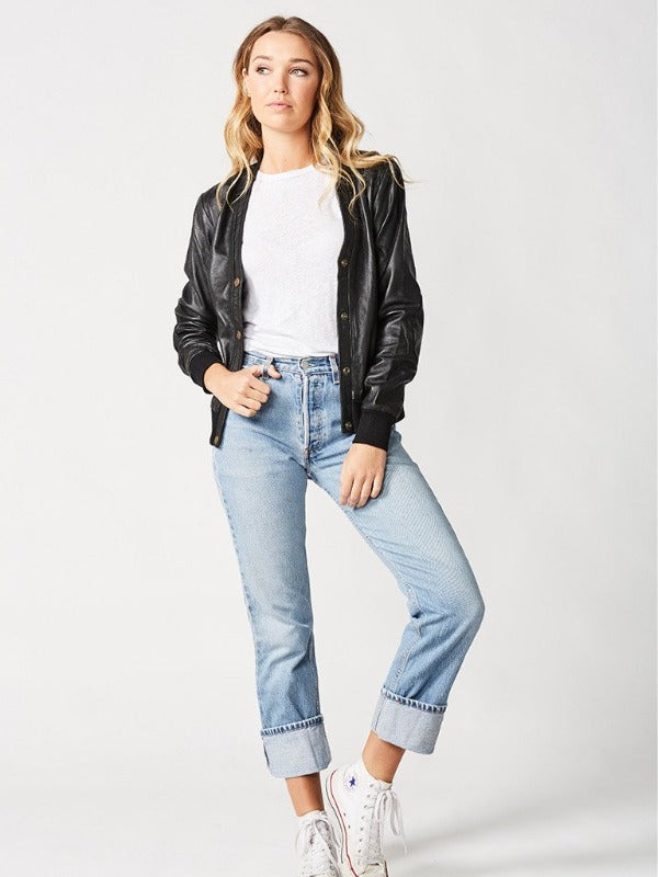 The Londoner Cardi Leather Jacket – Womens