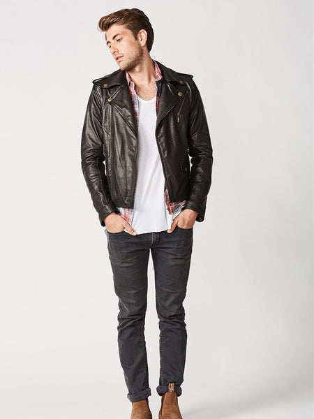 The Viking Biker Leather Jacket - Mens