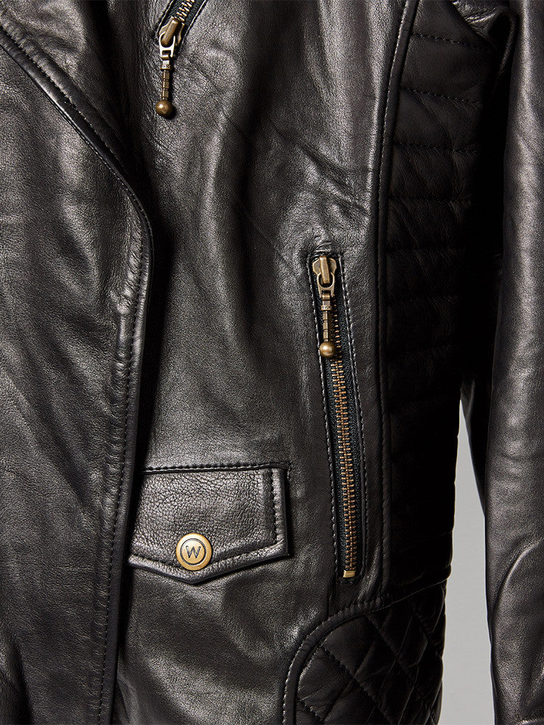 The Viking Biker Leather Jacket – Womens