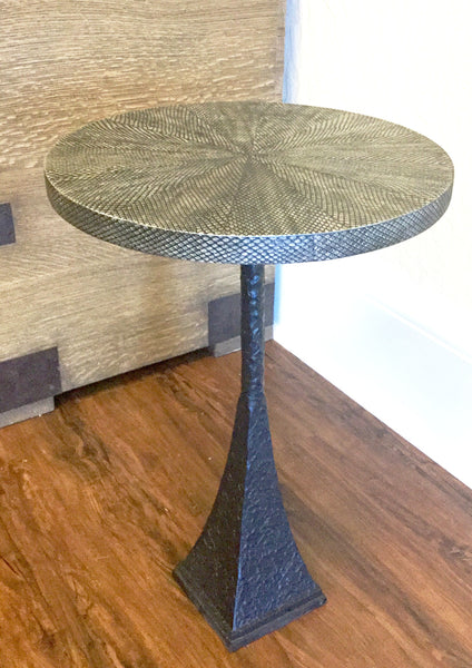 Faux Boa Top End Table