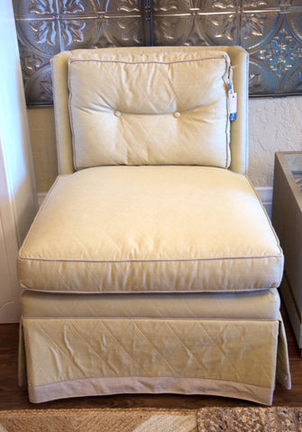 Custom Upholstered Slipper Chair