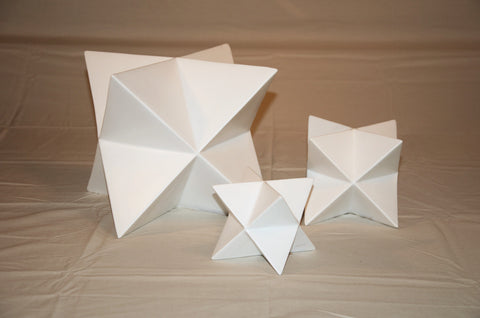 Matte White Faceted Star