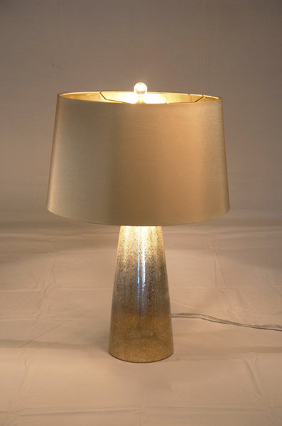 Leopard Silveria Tapered Lamp with Shade