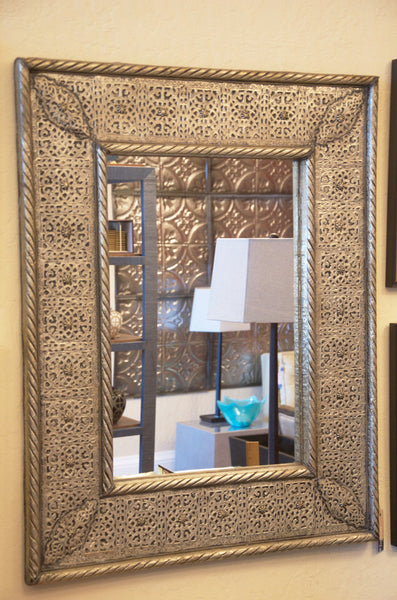 Engraved Brass Mirror