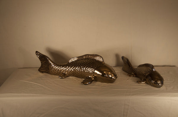 Crackled Gold Koi Fish