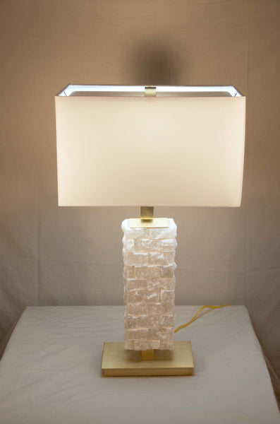 Cream Alabaster Table Lamp