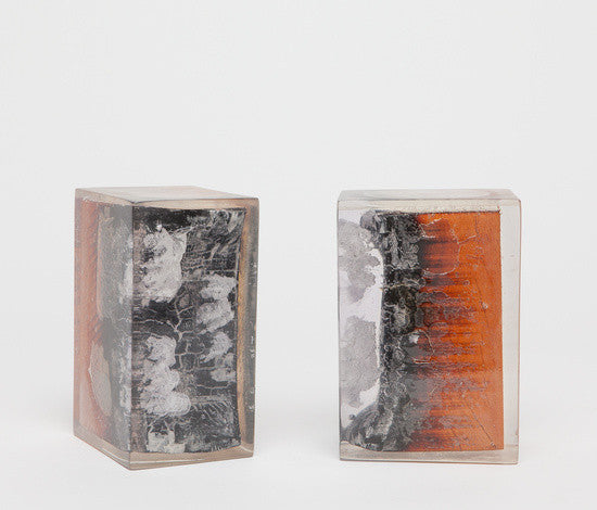Burnt Wood & Resin Bookends (pair)