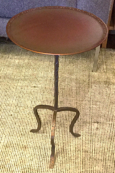 Small Branch Drink Table, Aged Bronze