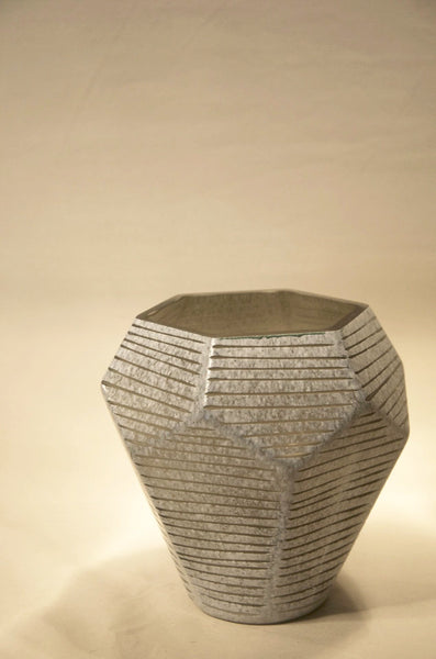 Gray Facet Vase