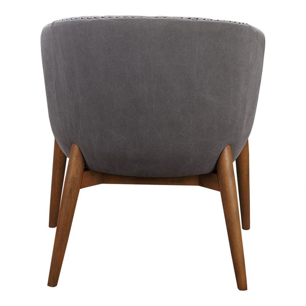 Channeled Barrel Chair in Gray