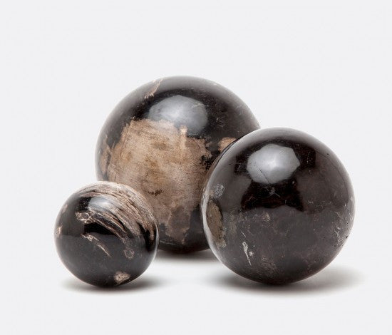 Dark Petrified Wood Ball