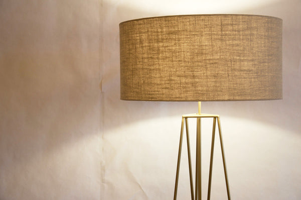 Tripod solid brass floor lamp