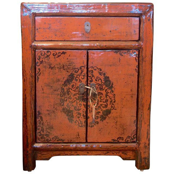 Chinese Painted Side Chest